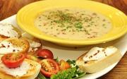 Pórková polévka sbramborem