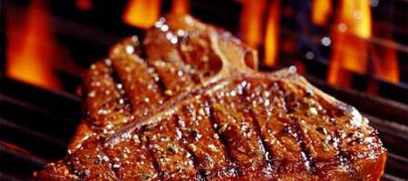 Hovězí steak nagrilu
