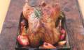 Pečená husa vpomalém hrnci